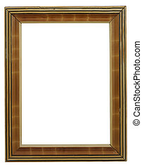old frame on white