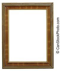old frame on white
