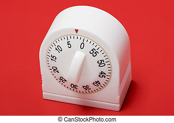 Running out of time - close-up of egg timer running out of...