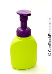 Soap Bottle - Photo of a Platic Soap Dispenser - Everyday...