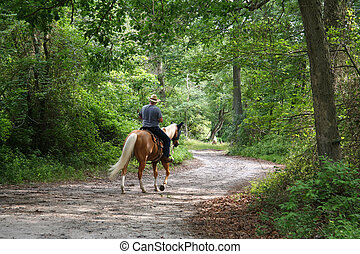 Man Horseback Riding