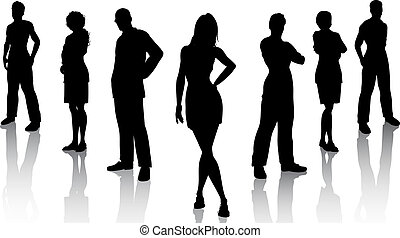 Business team - Silhouette of a business team