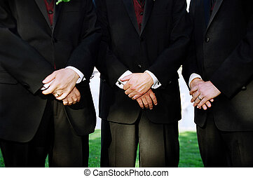 Groomsmen - Detail shot of groosmen at wedding