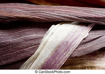 Purple Corn Husk - Photo of a purple corn husk.