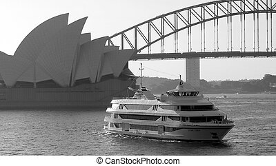 Sydney - The famous Sydney Harbour Bridge, Opera House and a...