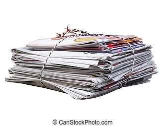 waste paper collected to the recycling, valuable raw...