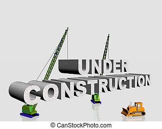 Under construction. - 3d illustration, under construction...
