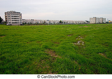 Undeveloped land - Outskirts of the city with a housing...
