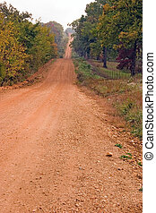 Red dirt road - A red dirt road in rural Arkansas