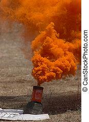 Smoke granade - Orange smoke granade to indeicate landing...