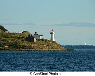 Two Beacons - Two lighthouses in the mouth of the Halifax...