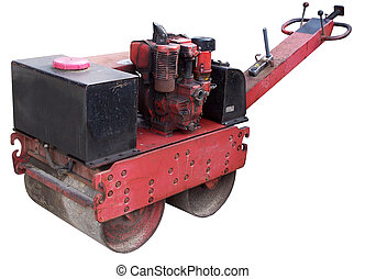 ROAD ROLLER; FOR HAND ENTERPRISE; ISOLATED
