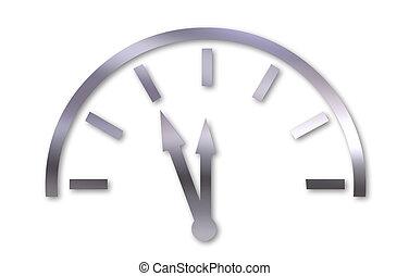 almost midnight - Illustration of clock at almost midnight...