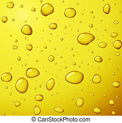 honney drops - pure golden honney drops on yellow background