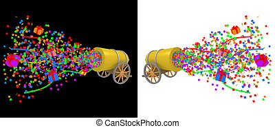 Party Cannon - Computer generated image. Party Cannon.