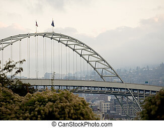 Fremont Bridge, Portland, Oregon - Photo of the Fremont...