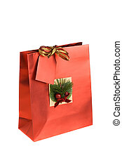 Christmas gift - Decorated Christmas or birthday gift bag,...