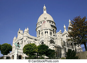 Sacre Coeur in Paris - Sacre Couer Basilica on Monmartre...
