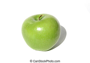 Green Apple - Single green apple isolated on white...