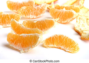orange sections - random oramnge sections on white ground