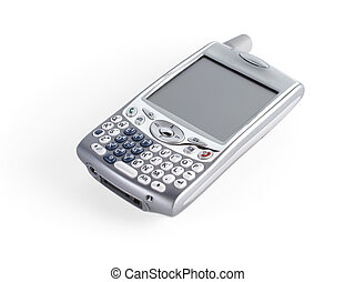 Treo palm cell phone - Treo, siver cell phone with email web...