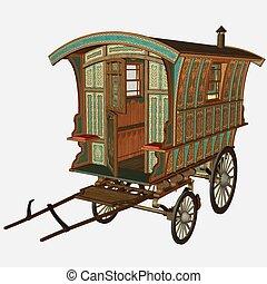 Medieval Wagon - 3D Render