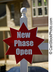 New Phase Open - Red New Phase Open Realty Sign