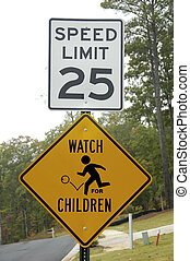 Watch for Children - Traffic Sign Warning of Children...