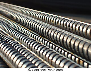 Steel bars close-up background