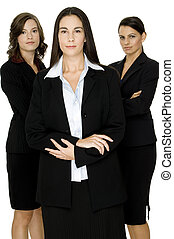Business Confidence - A confident team of three...