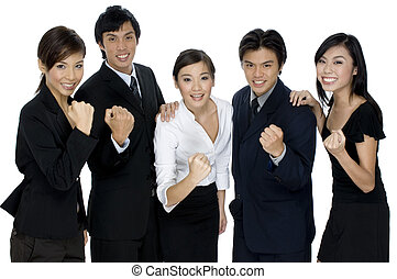 Business Success - A business team celebrate their success