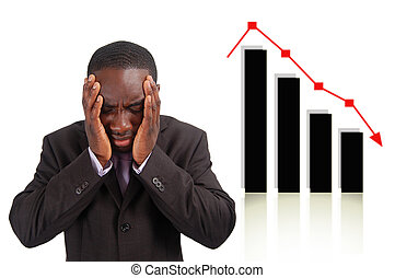 Stock Crash!!! - This is an image of a man deeply depressed...