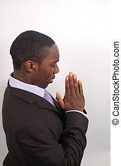 Sincere Prayer2 - This is an image of a man on his knees...