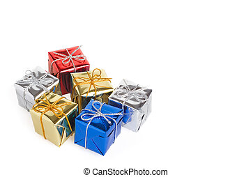 Christmas gift boxes - Shiny little gift boxes for christmas...