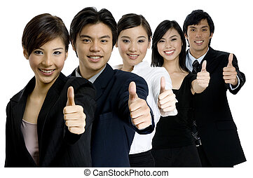 Successful Business Team - A young successful asian business...