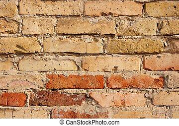 Brickwall - Closeup of an old brick wall