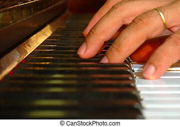piano, dedos