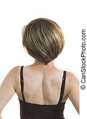 woman turning her back