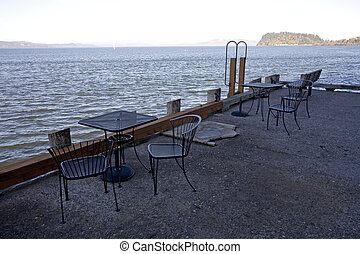 Cafe Overlooking the Columbia - Photo of some chairs and...