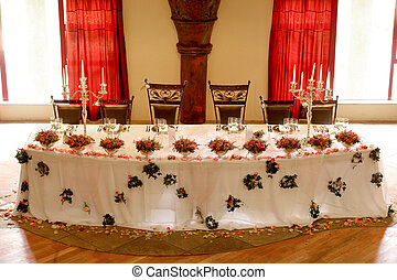 Table Decor - A Table set for a dinner party or wedding...