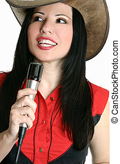 Country and western music singer