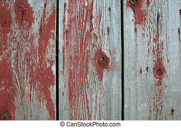 Old Wood and Paint - Grungy wood with old paint