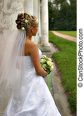 The beautiful bride - The image of the bride looking afar