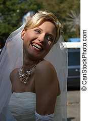 The happy Bride - Beautiful smiles of the bride of the...