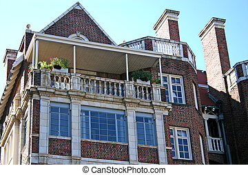 Old Apartment - Old and aging apartment building in the...