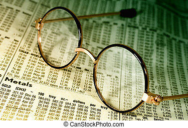 Quotes - Photo of Eyeglasses on Top of Futures Pricing and...