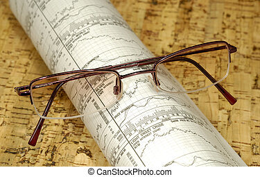 Financial Newspaper - Photo of Eyeglasses on Top of Futures...