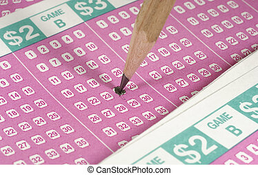 Lottery - Photo of Lottery Forms and a Pencil - Gambling...