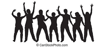 Dancing silhouettes - Variety of silhouettes of dancing...