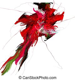 Abstract flower - Abstract hibiscus flower illustration